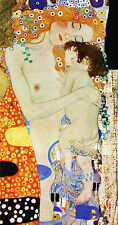 "GUSTAV KLIMT :: MOTHER AND CHILD ( BABY ) MOTHERHOOD : 24"" FINE ART CANVAS PRINT"