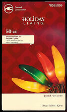 CHILI PEPPER 50 CT STRING LIGHTS~MULTICOLOR~BROWN WIRE~14 FT ~CAMP ~RV ~DECK~NEW