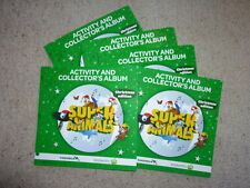 5 x Woolworths Super Animals Christmas Special Edition Albums Folders - No Cards