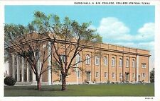 c.1920 Guion Hall A&M College College Station TX post card