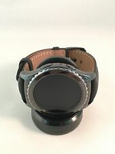 SAMSUNG GEAR S2 CLASSIC STAINLESS STEEL WATCH R7320ZKAXAR - BLACK LEATHER