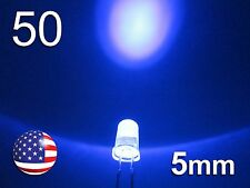 50pcs 5mm UV - Purple LED - Ultra Violet Round Water Clear Lamp Diode DIY