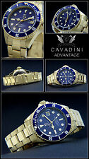 DIVER AUTOMATIC GOLD PLATED WATCH 30 BAR SOLID STEEL NEW SERIES XXL LARGE 45MM