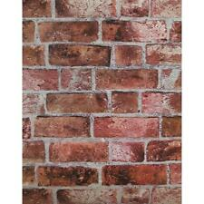 Red Brick Wallpaper HE1044 Textured Vinyl Bricks Stones DOUBLE ROLL Wallcovering