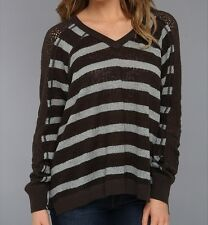 Free People We the Free Fluffy Lou Swit Top Sweater NWT $88 Charcoal S