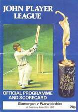 Glamorgan v Warwickshire 1981 John Player League Cricket Programme, Swansea