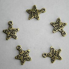 [wamami]5pcs Bronze Metal Star Pendant BJD Doll Jewelry Necklace Bracelace DIY