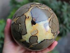2.182kg  Nice Dragon Septarian Stone Sphere Crystal Ball from Madagascar