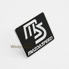 Black MS Speed Alloy Side Rear Decal Emblem Badge Sticker For Mazda 2 3 5 6 CX-5