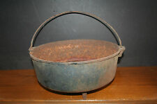 Antique CAST IRON 3-Leg Cauldron Pot Bean Pot 6-QUART? Hearth Pot