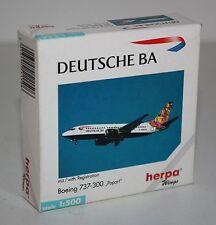 """Herpa Wings-Deutsche BA-Boeing 737-300 """"Popart""""-m/w Reg.-1:500-Modell #511506"""