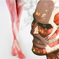 Anime Attack on Titan Cosplay Womens Muscle Printed Pantyhose Tights Stocking