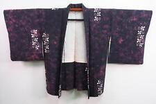 06a6384 Silk Vintage Japanese kimono Haori Jacket with Shibori