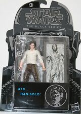 "Star Wars 3.75"" Black Series Figure - #19 Han Solo - Hasbro Original 2015 NEW"