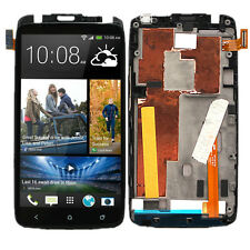Black LCD Display Touch Digitizer Screen Assembly for AT&T HTC One X  + Frame US