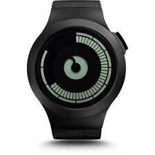 ZIIIRO Saturn Men's Black Digital Watch w/ Stainless Steel Mesh Strap