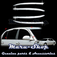 Chrome Door Window Vent Visor Deflector for 04~09 Kia Amanti