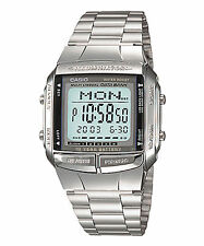 Vintage Casio DB360 Silver Databank Multilingual Telememo Digital Watch COD PP