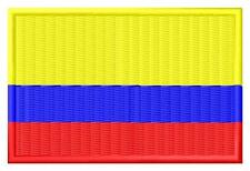 Flag Colombia Bandera de Colombia Parche bordado Thermo-Adhesivo iron-on patch