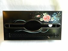 Vintage Metal Tole Painted Tissue Box Cover