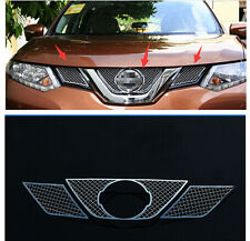 Front Grille Grill Bezel Honeycomb Mesh Cover for Nissan Rogue X-Trail 2014-2016