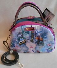 NICOLE LEE PURSE or SHOULDER BAG NEW YORK NEW YORK Handbag TWO Sets of HANDLES