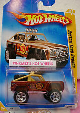 2008 #21 FE Hot Wheels CUSTOM FORD BRONCO☆ Brown/Gold/Chrome;08☆First Editions