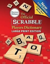 THE OFFICIAL SCRABBLE PLAYERS DICTIONARY Large Print 5th Edition NEW BOOK 2014