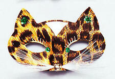 Leopard Print Domino Eye Mask Jungle Animal Masquerade Fancy Dress