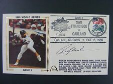 Rickey Henderson Autographed Signed Gateway Silk Cache Cover 1989 World Series