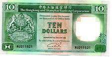 Hong Kong The Hong Kong and Shanghai Banking Corporation  $10 1992 UNC
