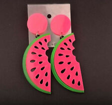 Punk summer fashion Style candy big Acrylic watermelon Shape fruit drop earring