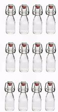 12 glass bottles each 70 ml with Swing top cap