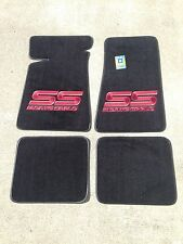 Carpeted Floor Mats - Large Red Monte Carlo SS on Black Mats