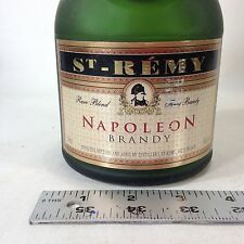 Vintage St REMY Empty Brandy Bottle Green Frosted Glass Made In France
