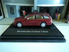 SCHUCO   MERCEDES BENZ  E-CLASS  T-MODEL  RED   1/87  HO  DIE CAST