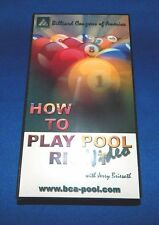 New BCA How To Play Pool Right VHS Video Tape