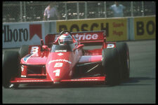 273061 Mario Andretti Corners His Lola Indy Car At The Meadowlands A4 Photo Prin