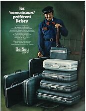 Publicité Advertising 1972 Les Valises Delsey