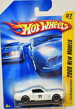 HOT WHEELS 2008  NEW MODELS FORD MUSTANG FASTBACK WHITE