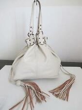 Mulberry beige leather with drawstring design shoulder hobo purse