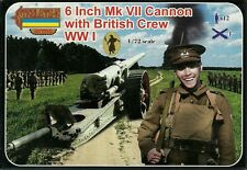 "Strelets 1/72 (20mm) WWI British 6"" Mk VII Gun with Crew"