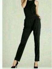 BEAUTIFUL TAILORED JUMPSUIT BLACK BOW JUMPSUIT SIZE 12 TALL BNWT