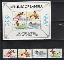 Zambia 216-19A Moscow Summer Olympics Mint NH