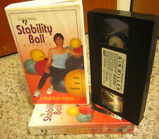 MARYELLEN JORDAN VHS muscle toning Positively Fit Stability Ball Workout 1995