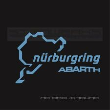 Abarth Nurburgring Decal Sticker logo emblem fiat 500 500c racing italy Pair