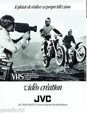PUBLICITE ADVERTISING 036  1980  JVC  caméra vidéo rallye moto