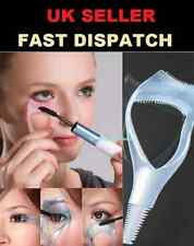 3 in 1 Mascara Applicator Guide Tool Eyelash Brush Curler Lash Comb Cosmetic UK