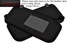 RED STITCH FITS HYUNDAI GETZ 02-08 2X SUN VISORS LEATHER COVERS ONLY