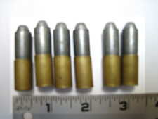 6 nichols 45 bullets two piece play bullets brass and die cast like the original